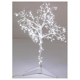 Albero luminoso Natalizio metallo 90 cm 210 LED bianco freddo esterno s1