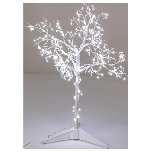 Albero luminoso Natalizio metallo 90 cm 210 LED bianco freddo esterno 1
