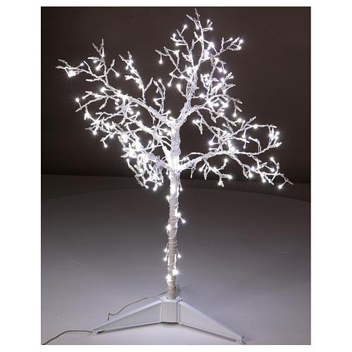 Albero luminoso Natalizio metallo 90 cm 210 LED bianco freddo esterno 2