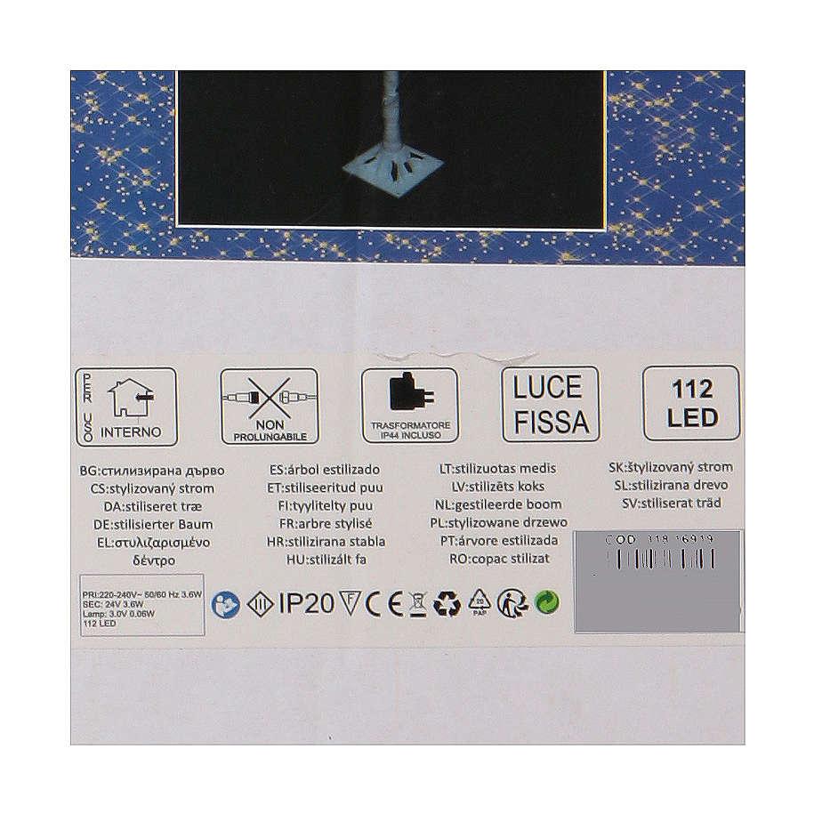 Albero luminoso stilizzato 120 cm LED bianco caldo esterno 3