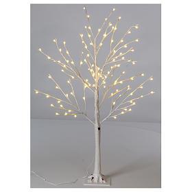 Albero luminoso stilizzato 120 cm LED bianco caldo esterno s1