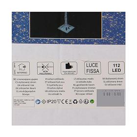 Albero luminoso stilizzato 120 cm LED bianco caldo esterno s4