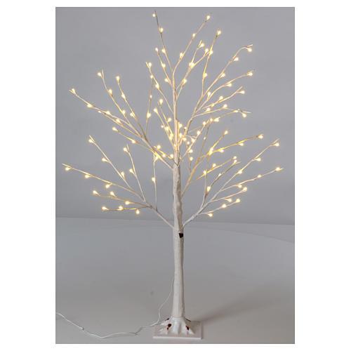 Albero luminoso stilizzato 120 cm LED bianco caldo esterno 1