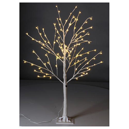 Albero luminoso stilizzato 120 cm LED bianco caldo esterno 2