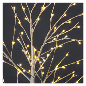 Árvore luminosa estilizada 120 cm 112 LED branco quente exterior s3