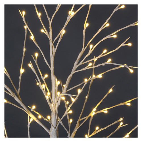Árvore luminosa estilizada 120 cm 112 LED branco quente exterior 3