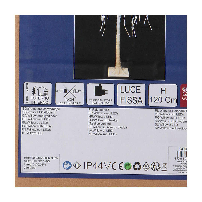 Albero luminoso Natalizio Salice piangente 120 cm 240 LED bianco freddo esterno 3