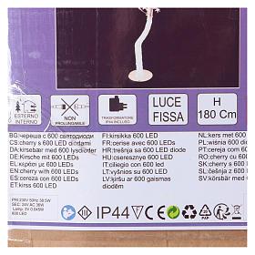 Albero luminoso Ciliegio 180 cm 600 LED bianco freddo esterno s5