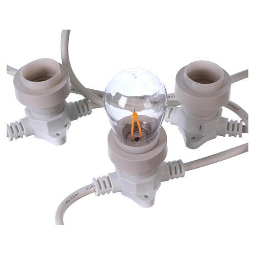 Câble avec soquets E27 blanc 10 m pour éclairage Noël 3