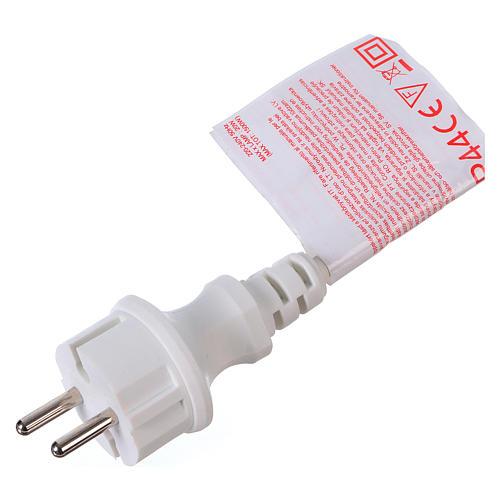 Câble avec soquets E27 blanc 10 m pour éclairage Noël 4