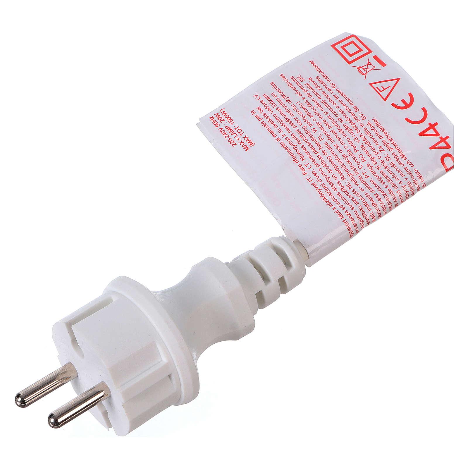 Christmas lights bulb holder E27 10 m white cable 3