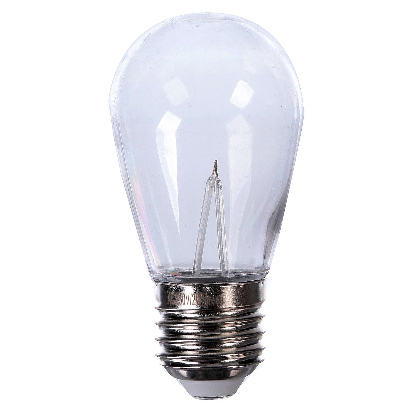 Ampoule goutte bleue E27 pour chaîne avec soquets 3