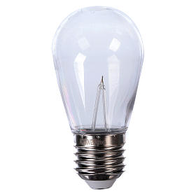 Blue drop light bulb E27 for lamp holder chains s1