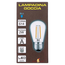 Blue drop light bulb E27 for lamp holder chains s2