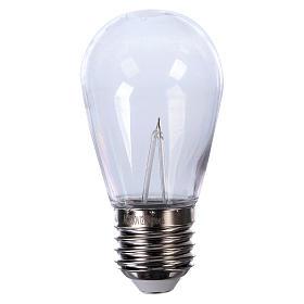 Bombilla gota rojo E27 para cadenas de lámparas s1