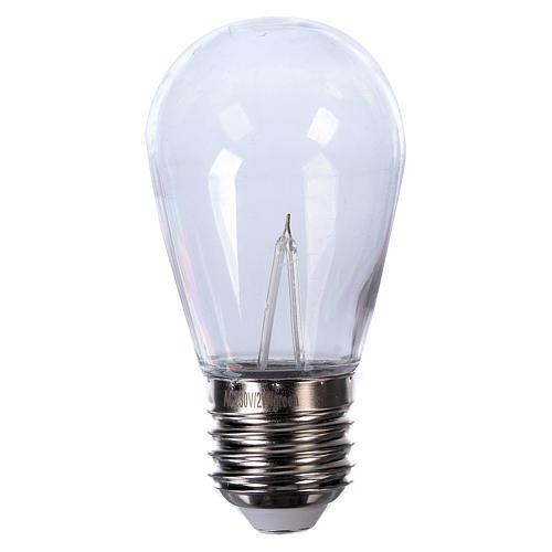 Ampoule goutte rouge E27 pour chaîne avec soquets 1
