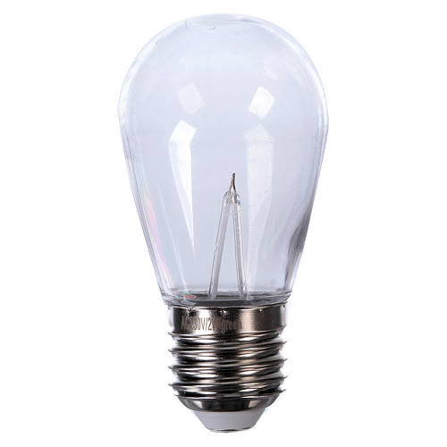 Red drop light bulb E27 for lamp holder chains 1