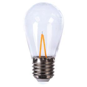 Guirlandes lumineuses de Noël: Ampoule goutte blanche E27 pour chaîne avec soquets