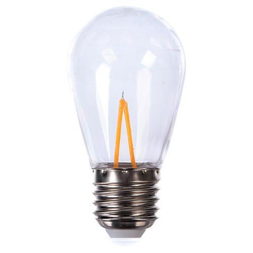 Ampoule goutte blanche E27 pour chaîne avec soquets 1