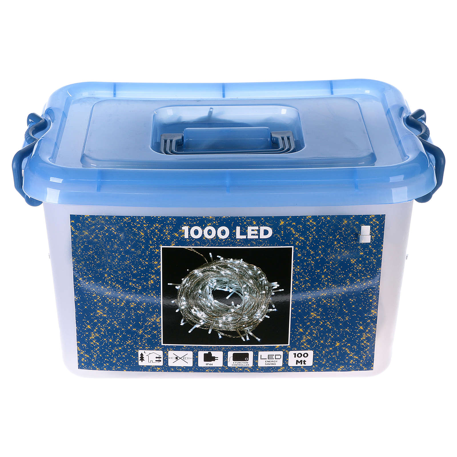 Christmas lights, 1000 white LEDs with external control of 100 m 3