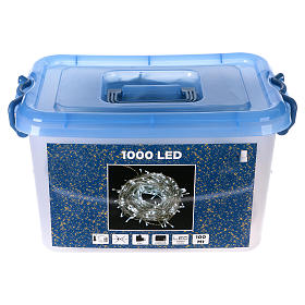 Christmas lights, 1000 white LEDs with external control of 100 m s6