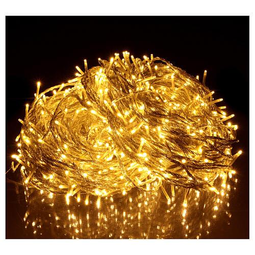 Luce Natale catena 1000 Led bianchi luce calda esterni flash control unit 100 m 2