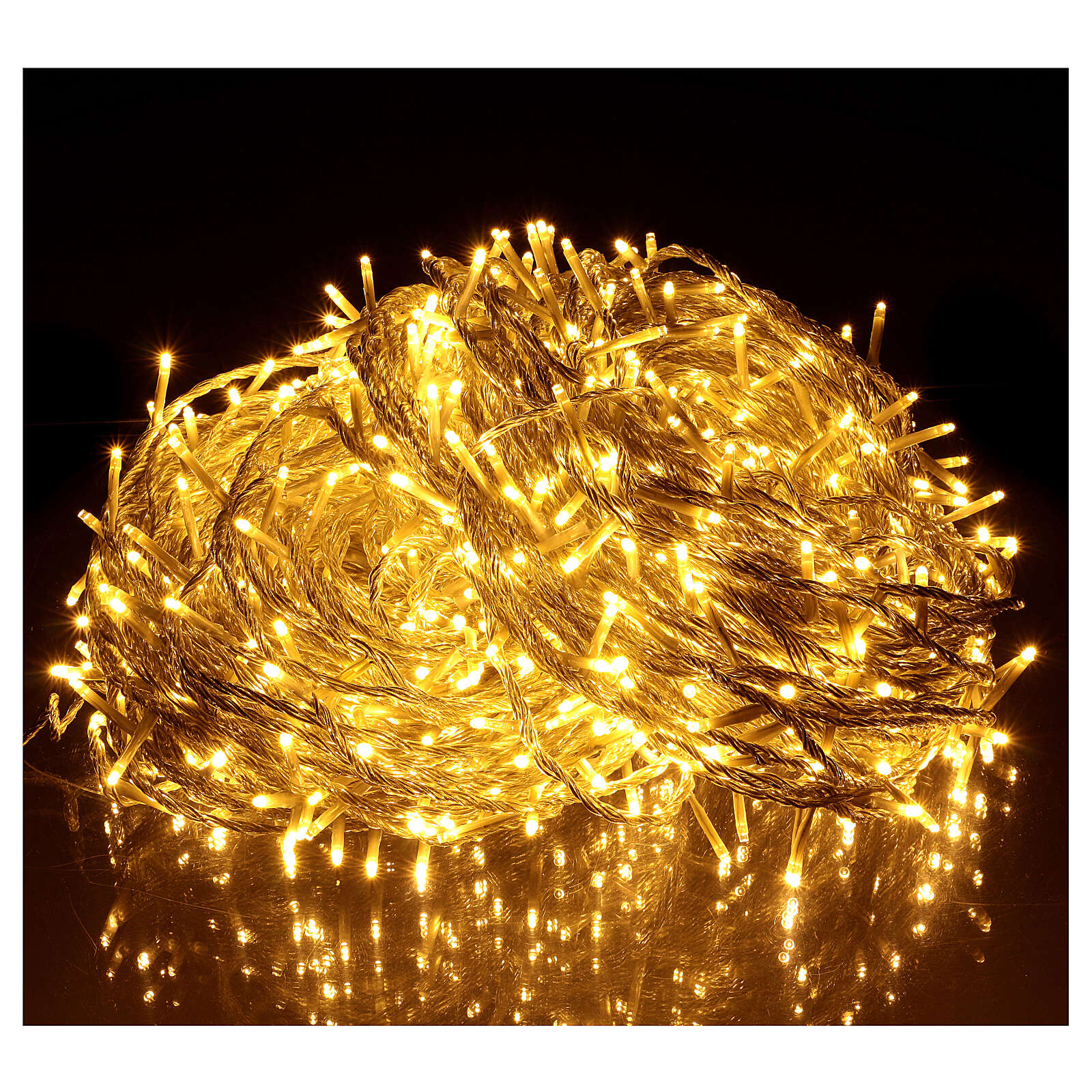 Christmas string lights, 1000 warm white LEDs flash control unit 100 m 3