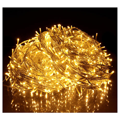 Christmas string lights, 1000 warm white LEDs flash control unit 100 m 1