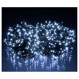 Christmas lights 1000 white LEDs with green cable external control unit 100 m s2