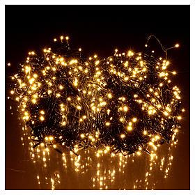 Luce Natale catena verde 1000 led caldi bianchi esterni interruttore 100 m s2