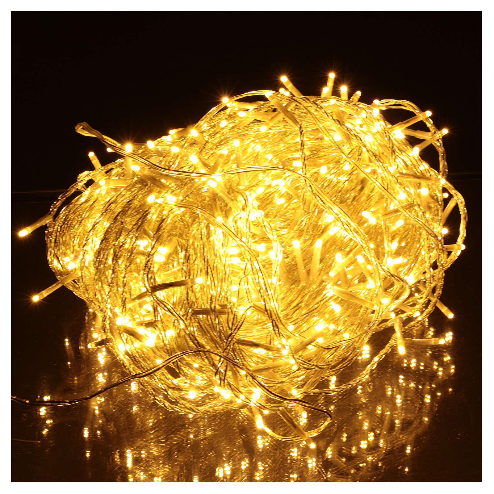 Luz Navidad cadena 500 led blancos luz cálida exterior interruptor 50 m 3