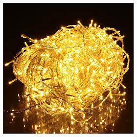 Guirlande lumineuse chaîne 500 LED blanc chaud extérieur interrupteur 50 m s2