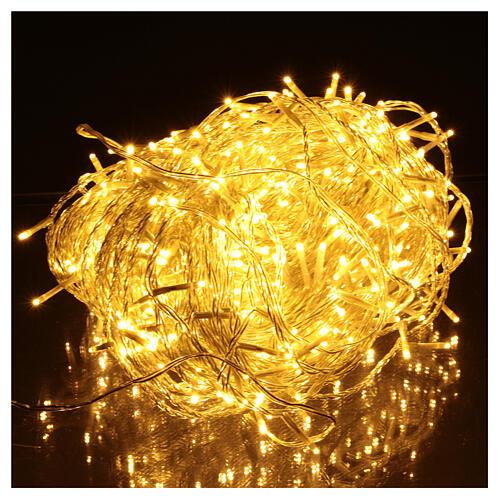 Guirlande lumineuse chaîne 500 LED blanc chaud extérieur interrupteur 50 m 2
