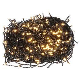 Luce Natale catena verde 500 led bianchi luce calda esterni interruttore 50 m s1