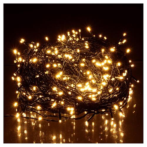 Luce Natale catena verde 500 led bianchi luce calda esterni interruttore 50 m 2