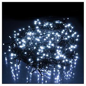 Luce Natale catena verde 500 Led bianchi luce fredda esterni interruttore 50 m s2