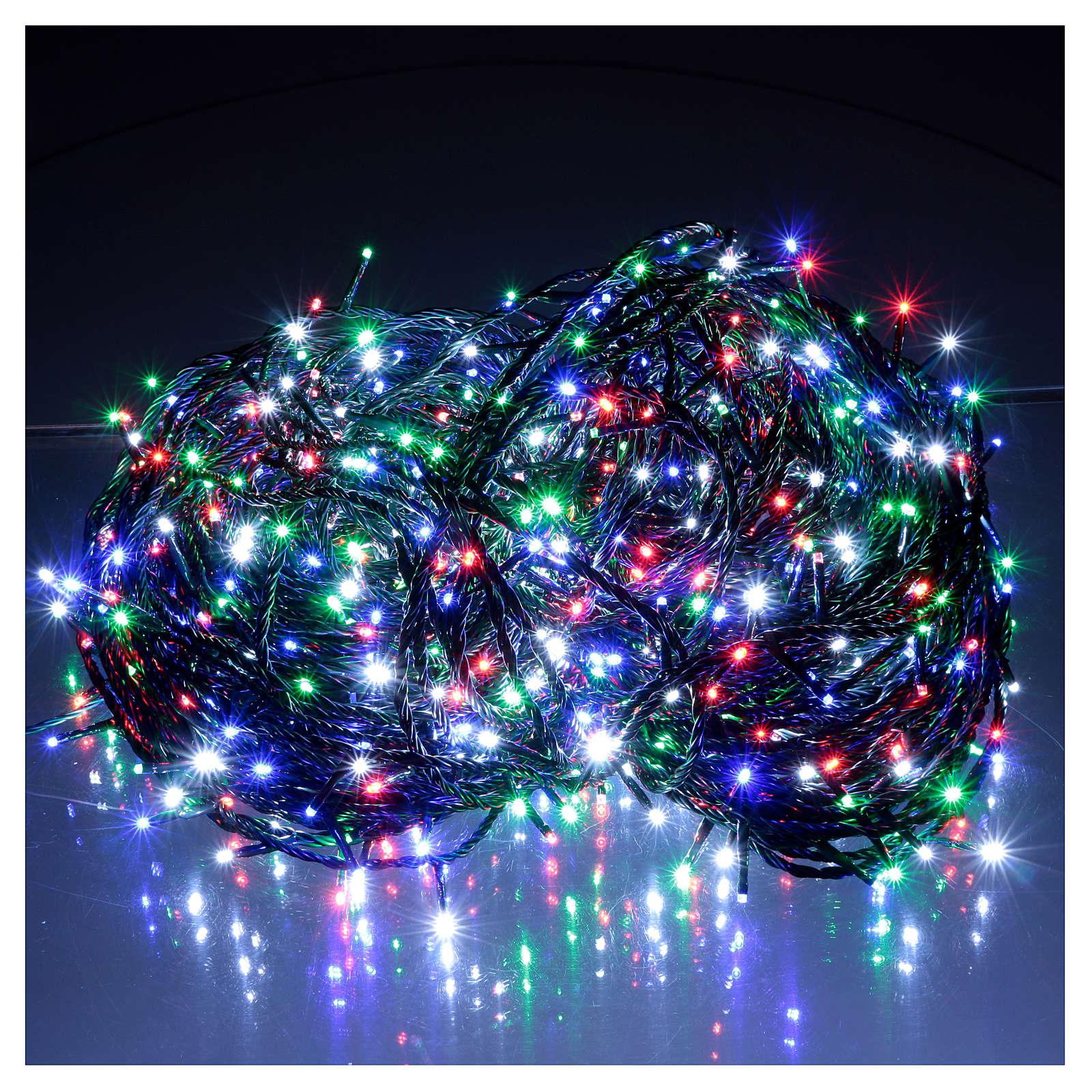 Luce Natalizia catena verde 1000 Led multicolori esterni flash control unit 100 m 3