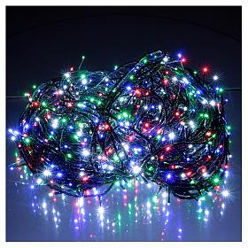 Luce Natalizia catena verde 1000 Led multicolori esterni flash control unit 100 m s2