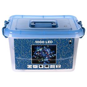 Luce Natalizia catena verde 1000 Led multicolori esterni flash control unit 100 m s6