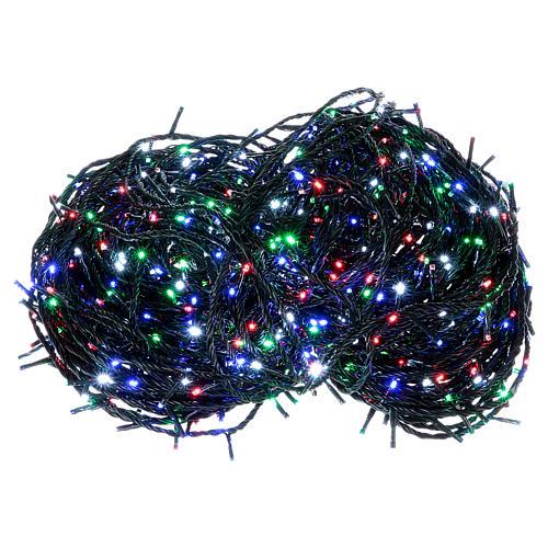 Luce Natalizia catena verde 1000 Led multicolori esterni flash control unit 100 m 1