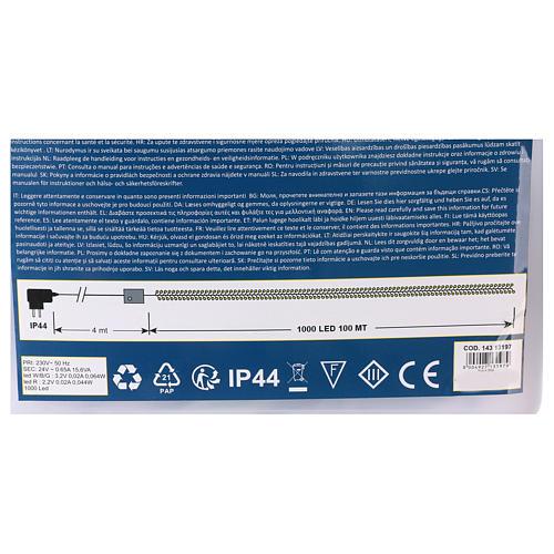 Luce Natalizia catena verde 1000 Led multicolori esterni flash control unit 100 m 5