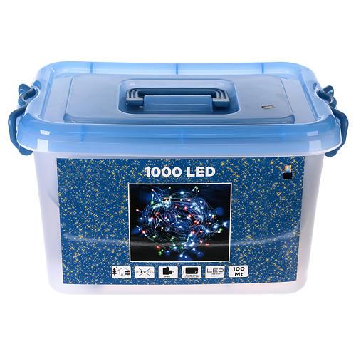 Luce Natalizia catena verde 1000 Led multicolori esterni flash control unit 100 m 6