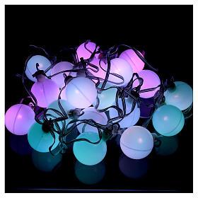 Luce di Natale 20 balocchi multicolori esterno flash control unit 7,6 m s2