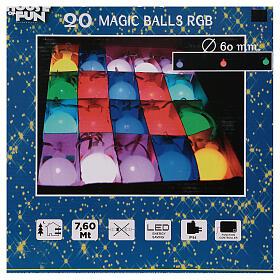 Luce di Natale 20 balocchi multicolori esterno flash control unit 7,6 m s10
