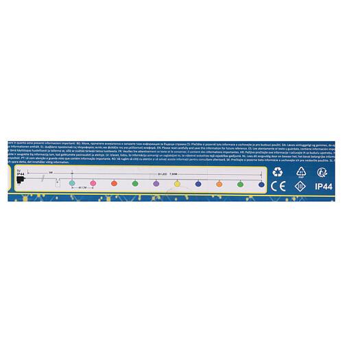 Luce di Natale 20 balocchi multicolori esterno flash control unit 7,6 m 9