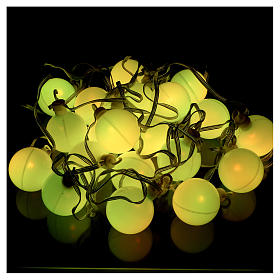 Christmas globe lights 20 multi-color with external flash control unit 7.6 m s6