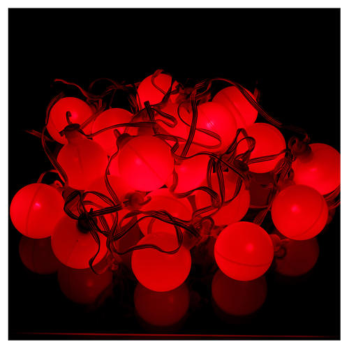 Christmas globe lights 20 multi-color with external flash control unit 7.6 m 3