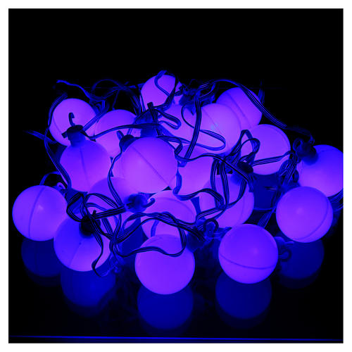 Christmas globe lights 20 multi-color with external flash control unit 7.6 m 4
