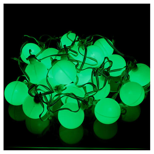 Christmas globe lights 20 multi-color with external flash control unit 7.6 m 5