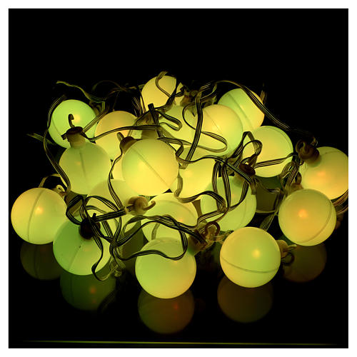 Christmas globe lights 20 multi-color with external flash control unit 7.6 m 6